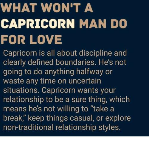 Capricorn man attitude